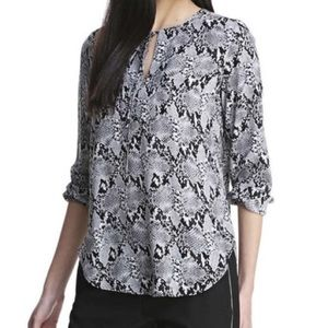 Joe Fresh Snakeskin Long Sleeve Blouse